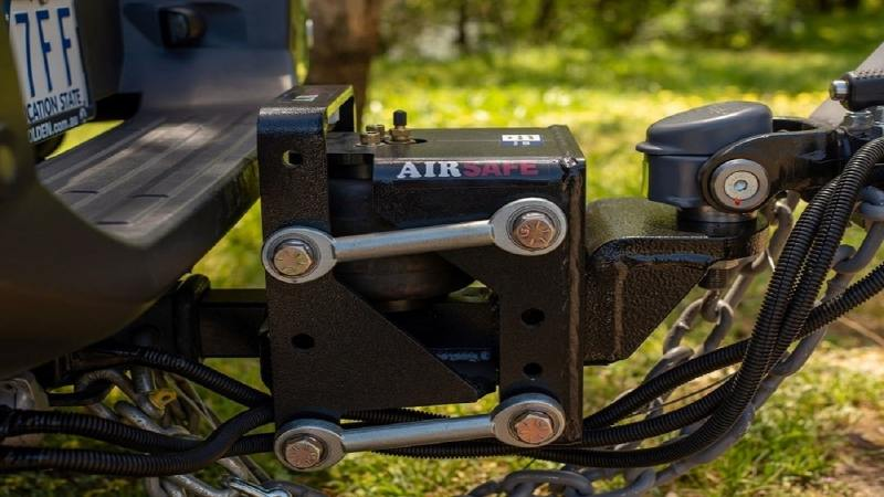 AirSafe receiver hitch for trailers